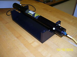 Yellow Fiber Coupled Helium Neon Laser System 4 Mw New Old Stock
