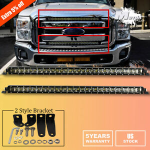 For 11 16 Ford F250 F350 Superduty Upper Lower Grille Mount 30 Led Light Bar 2x
