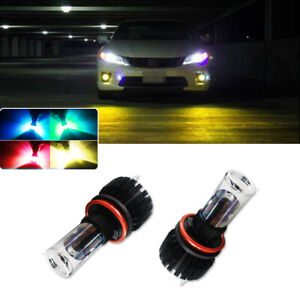 Remote Multi color Rgbw Led Fog Driving Lights Bulbs For 2006 2015 Honda Accord