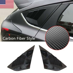 Rear Window Louvers Side Tuyere Louvers Vent For Ford Focus St Rs Mk3 Hatchback