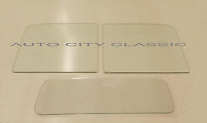 2pc Windshield And Back Glass Clear Ford Pickup 1940 1941 1942 1946 1947