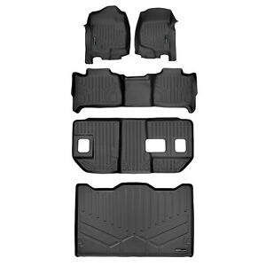 All Weather Floor Mats Set 3 Rows And Cargo Liner For Suburban Yukon Xl Black