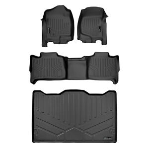 All Weather Floor Mats Set 2 Rows And Cargo Liner For Suburban Yukon Xl Black