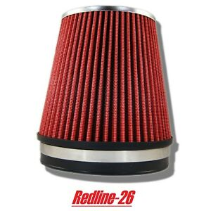Red Universal Cone Truck Cold Air Filter Replacement 6 152 Mm Inlet