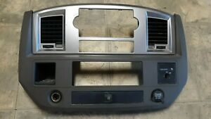 07 Dodge Ram 2500 Dash Trim Radio Climate Control Bezel Surround
