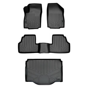 All Weather Floor Mats Set Cargo Liner Bundle For Buick Encore Chevy Trax Black