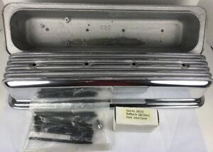 Rpc Baffled Aluminum Finned Valve Covers 87 up Sbc Chevy 305 350 Center No Hole