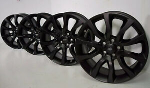20 Range Rover Sport Full Hse Supercharged Satin Black Wheels Rims Factory Oem