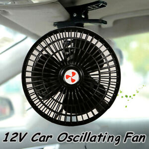 Mini Portable Vehicle Auto Dash Oscillating Fan Clip On For Car Truck Cooling