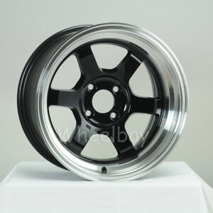 4 Pcs Rota Wheel Grid V 15x8 4x114 3 0 Royal Black 240z Ae86 In Stocklast Set