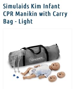 Simulaids Kim Infant Full Body Cpr Training Manikin With Training Bag brand New