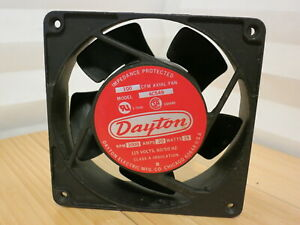 Dayton 4c549 Axial Fan 115 Volts 15 Watts 2 Amps 100 Cfm 3000 Rpm 3 Of 5