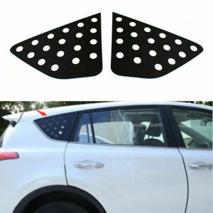 Abs Side Vent Window Scoop Louver Cover Trim Fit For Toyota Rav4 2013 2019