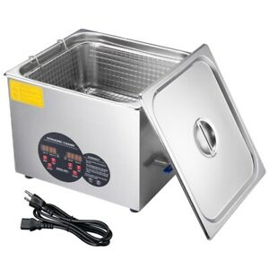 15l Stainless Steel Industry Heated Ultrasonic Digital Cleaner W timer Dental