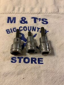 Armstrong Usa 3 8 Drive 3 16 7 32 1 4 3pc Hex Bit Sockets