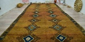 Large 12x6 Ft Antique Caucasian Hand Knotted Tribal Nomadic Rug Signed 11 8x5 5