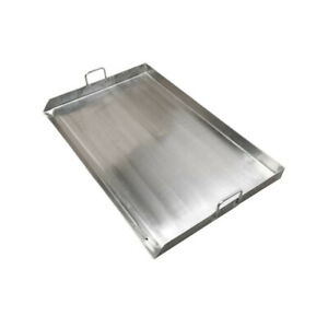 Hd 35 Wide Stainless Steel Flat Top Triple Griddle Grill Plancha Cook Fry Pan