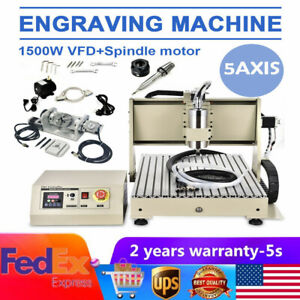 1500w Usb 5 Axis 6040 Cnc Engraver Router Wood Carving Ball Screws Machine