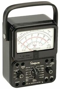 Simpson Electric Analog Multimeter 1000 Max Ac Volts 260 8 1 Each