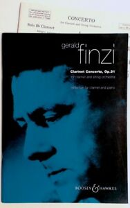 Gerald Finzi Clarinet Concerto Op 31 Clarinet & String  New-Old Stock  FREE SHIP
