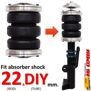 1 Universal Triple Air Bag Sleeve Fit Absorber Shock 22mm Spring ride Suspension