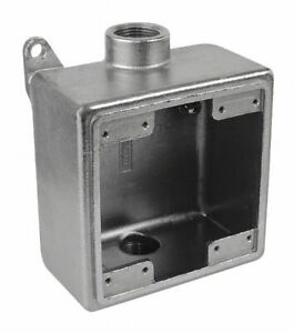 Calbrite Weatherproof Electrical Box 2 gang 2 inlet Stainless Steel Stainless