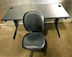 Office Desk 5ft With Herman Miller Leather Chair
