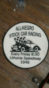 Vintage Patch All Negro Stock Car Racing Lithonia Georgia Hot Rod Parts 1948