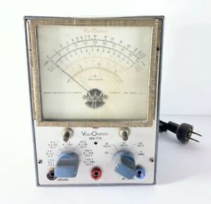 Vintage Rca Voltohmyst Type Wv 77e Volt Meter Test Equipment Unteseted as Is