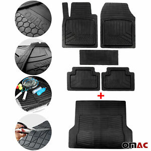 For Cadillac Xts 2013 2019 Waterproof Rubber Molded Floor Mats Cargo Liner Set
