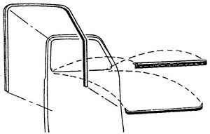 1947 1948 1949 1950 Chevrolet Gmc Truck Door Deluxe Window Felt Channel Kit