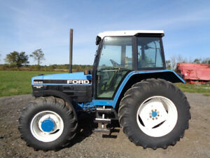 1993 Ford 6640sle Tractor Cab heat air 4wd 16 Speed Powershift 4 343 Hours
