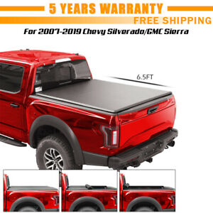 For 2007 2019 Chevy Silverado Gmc Sierra 6 5ft Truck Bed Roll Up Tonneau Cover