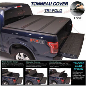 Hard Tri fold Tonneau Cover For 2009 18 Dodge Ram 1500 Crew Cab 5 7ft Short Bed