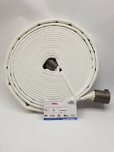 All american Hose 6d15x50w15nul 1 1 2 Alum 600psi White Poly rubber Fire Hose