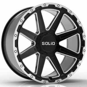 20 Solid Atomic Gloss Black 20x12 Forged Concave Wheels Rims Fits Toyota Tundra