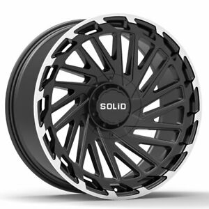 20 Solid Blaze Machined 20x12 Forged Concave Wheels Rims Fits Dodge Ram 1500