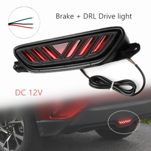 1 car Led Rear Bumper Tail Brake Light Drl Driving Fog Lamps Fit For Toyota C hr