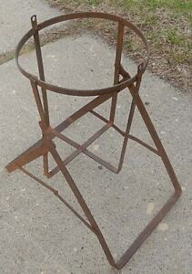 Old Tilting Wrought Iron Glass Water Bottle Holder Or Re Purpose