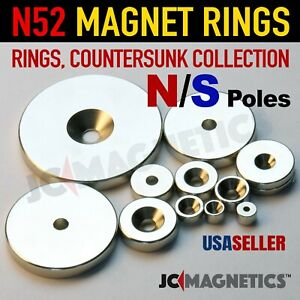 Rings Countersunk N52 Super Strong Rare Earth Neodymium Magnets Fridge Crafts