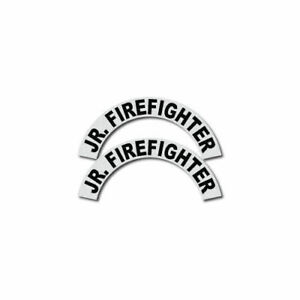 3m Reflective Fire rescue ems Helmet Crescents Decal Set Jr Firefighter