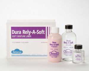 Reliance Dental Dura Rely a soft Package Soft Denture Liner Soft Reline Kit