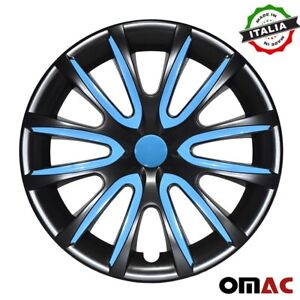 16 Inch Hubcaps Wheel Rim Cover Glossy Black Blue 4pcs Set For Toyota Camry