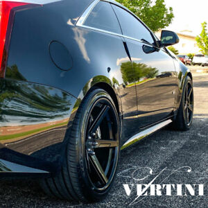 20 Vertini Rfs1 7 Black 20x10 20x11 Forged Wheels Rims Fits Dodge Charger