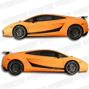 Lamborghini Gallardo Stripe Kit version 2 With Superleggera Script Logo Decals