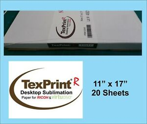 Texprint R Sublimation Transfer Paper 11x17 Pack Of 20 Sheets