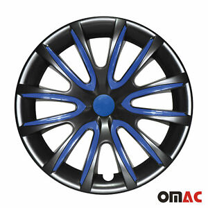 16 Inch Hubcaps Wheel Rim Cover Black With Dark Blue 4pcs Set For Nissan Sentra