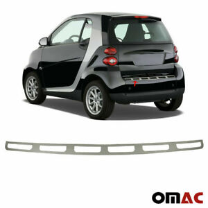 Fits Smart Fortwo 2008 2015 Chrome Rear Bumper Guard Trunk Sill Cover S steel