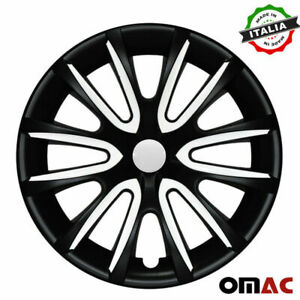 15 Inch Wheel Rim Cover Hubcap Matte Black White For Hyundai Elentra 4pcs Set