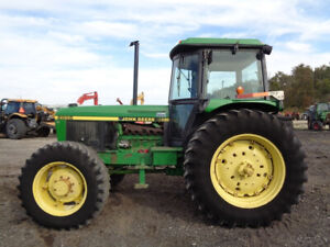 1987 John Deere 2955 Tractor Cab heat air 4wd 16 Speed 2 Remotes 6 397 Hrs